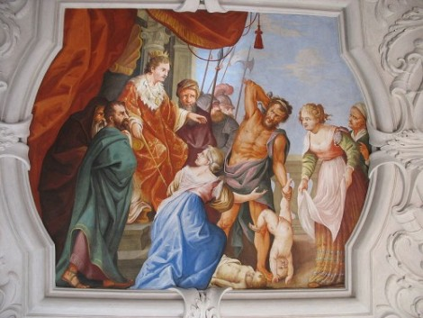 Fresco of the Judgment of Solomon (Courtesy: Wikipedia)